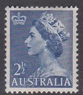 Australia ASC 294 1953 Queen Elizabeth II Definitives, 2.5 Blue, Mint Never Hinged - Mint Stamps