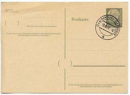 Germany, West 1957 8pf Heuss Postal Card Hamburg-Iserbrook Postmark - [7] Federal Republic