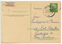 Germany, West 1957 10pf Huess Postal Card, Lemgo To Bad Salzuflen - [7] Federal Republic