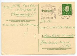 Germany, West 1961 10pf Huess Postal Card Scharbeutz Slogan Postmark - [7] Federal Republic