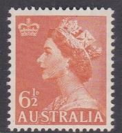 Australia ASC 297 1953 Queen Elizabeth II Definitives, 6.5 Orange, Mint Never Hinged - 1952-65 Elizabeth II : Pre-Decimals