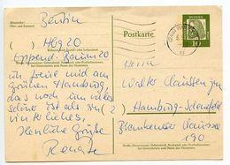 Germany, West 1962 10pf Dürer Postal Card Hamburg Postmark - [7] Federal Republic