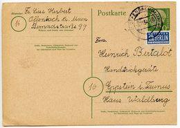 Germany, West 1954 10pf. Postal Card W/ Notopfer, Offenbach To Eppstein I. Taunus - [7] Federal Republic