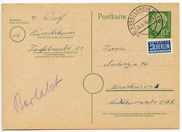 Germany, West 1955 10pf. Postal Card W/ Notopfer, Russelsheim To Leverkusen - [7] Federal Republic