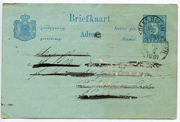 Netherlands Indies 1891 5c. Postal Card Soekaboemi To Weltevreden - Nederlands-Indië
