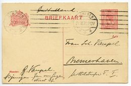Netherlands 1920 5c. Wilhelmina Postal Card Nijmegen Machine Cancel - Postal Stationery