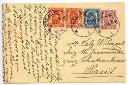 Belgium 1939 40c. Arms Uprated Postal Card Charleori To Paris, France - Postcards [1934-51]