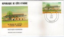 COTE D'IVOIRE 1984  FDC  PALAIS DE JUSTICE   YVERT N°690 - Ivory Coast (1960-...)