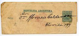 Argentina 1900's 1c. Martin Wrapper To Florida - Postal Stationery