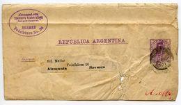 Argentina 1891 2c. Wrapper To Bremen, Germany - Postal Stationery