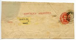 Argentina 1887 1c. Martin Wrapper Buenos Aires To Germany - Postal Stationery