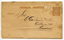 Argentina 19th C. Used ½c. Seal Wrapper - Postal Stationery