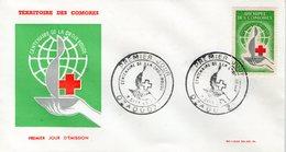 COMORES 1963  FDC CROIX-ROUGE  YVERT N°27 - Cruz Roja