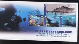 VANUATU 2006 FDC SS PRESIDENT COOLIDGE YVERT N°1268/71 - Vanuatu (1980-...)