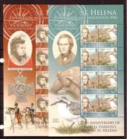ST HELENE 4 FEUILLET EXPLORATION ET INNOVATION 2006 YVERT N°935/42  NEUF MNH** - Sainte-Hélène