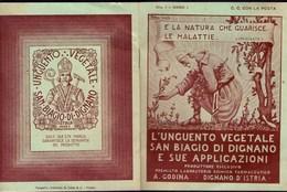 CROATIA - ISTRIA - UNGUENTO  VEGETALE  SAN BIAGIO Di DIGNANO  Nr.1  Anno 1 - VODNJAN - Cc 1920 - Books, Magazines, Comics