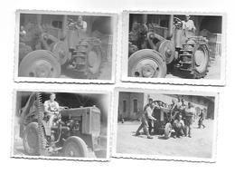 4 Photos Originales - Prisonniers Français En Allemagne (Tutzing) - Tracteur - - Trattori