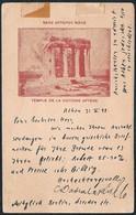 Greece Athens Acropolis Temple De La Victoire Aptere 1898 To Ruhla Germany - Greece