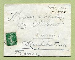 """"""" BUENOS-AIRES A BORDEAUX Ligne 4 """"  Pour ROUGEUX (Vosges)  1917 - Marcophilie (Lettres)"""
