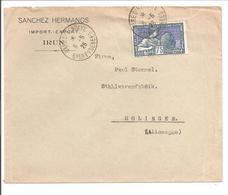 No 214 SEUL.Irun>Gare D'Hendaye>Allemagne - Marcophilie (Lettres)