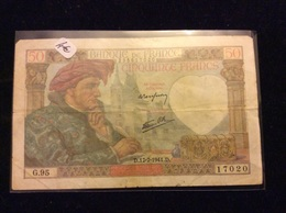 50 Francs 17-7-1941 - 50 F 1940-1942 ''Jacques Coeur''