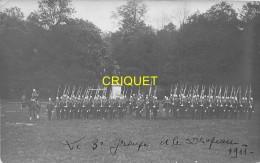 78  Ecole De St Cyr, Carte Photo Du 3ème Groupe Avec Le Drapeau, 1911, Carte Pas Courante, Phot. Noari - St. Cyr L'Ecole