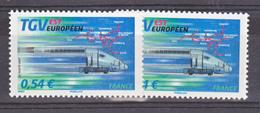 France 4061 Variété Vert Et Bleu Le TGV Neuf ** TB MNH Sin Charnela - Variétés Et Curiosités
