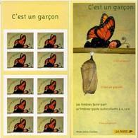 """FRANCE : Carnet """"C'est Un Garçon"""" Non Plié - BC3635A  - """"LUXE"""" - 2004 - - Personnages"""