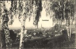 Cp Landshut In Niederbayern, Panorama Vom Ort, Birken - Sonstige