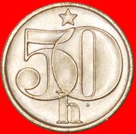 # SHIELD (1977-1990): CZECHOSLOVAKIA ★ 50 HELLER 1978 UNC MINT LUSTER! LOW START ★ NO RESERVE! - Czechoslovakia