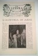 L'AUSTRIA IN ARMI DI A. COLUTTI 1914 ARTICOLO RITAGLIATO DA GIORNALE - Vecchi Documenti
