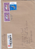Oman Registered Commercial Cover Franked Higgh Values Dhows + Knife,clear Cancellat.verso Date- Red Pr.SKRILL ONLY - Oman
