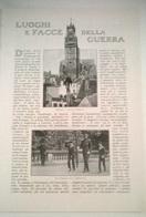 LUOGHI E FACCE DELLA GUERRA - TREVISAIN 1914 ART. RIT. DA GIORNALE - Vecchi Documenti