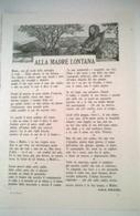 ALLA MADRE LONTANA VERSI DI ADA NEGRI 1914 ART. RIT. DA GIORNALE - Vecchi Documenti