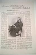 MONS. GEREMIA BONOMELLI - G. MUSSIO  1914 ART. RIT. DA GIORNALE - Vecchi Documenti