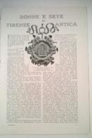 DONNE E SETE DI FIRENZE ANTICA - N. RODOLIO   1914 ART. RIT. DA GIORNALE - Vecchi Documenti