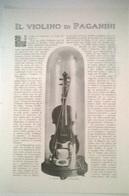 IL VIOLINO DI PAGANINI - B. MAINERI 1914 ART. RITAGLIATO DA GIORNALE - Vecchi Documenti