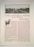 LIPSIA METROPOLI LIBRARIA E LA BUGRA . P. BARBIERE 1914 ART. RITAGLIATO DA GIORNALE - Vecchi Documenti