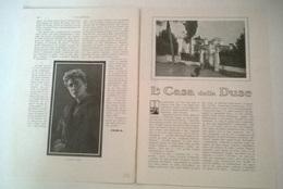 LA CASA DELLA DUSE - FEBEA 1914 ART. RITAGLIATO DA GIORNALE - Vecchi Documenti