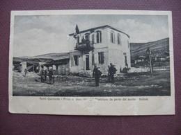 CPA ALBANIE SARANDA SARANDE Ex SANTI QUARANTA Presa Municipio Dalla Marina Italiena Marine Italienne GUERRE DES BALKANS - Albanie