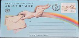 UNO NEW YORK 1995 Mi-Nr. LF 14 Ganzsache Luftpostfaltbrief Ungebraucht - New-York - Siège De L'ONU