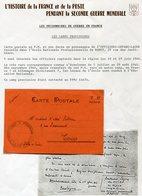 FRANCE CARTE POSTALE EN FM NON DATEE DEPART DE L'OFFIZIERS-GEFANG-LAGER ECOLE NAT. PROFESSIONNELLE DE NANCY............. - Marcophilie (Lettres)