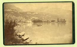 """PHOTO Du XIXeme  ; """" TALLOIRES """"  (23 X 14 Cm)  Haute-Savoie / Suisse - Photos"""