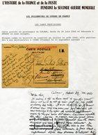 FRANCE CARTE POSTALE MILITAIRE DEPART COLMAR 28-6-40 POUR ANGERS (ZONE OCCUPEE) 14-7-40 PUIS REEXPEDIEE ET RECUE A COUHE - Marcophilie (Lettres)