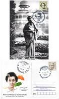 India  2017  Birth Centenary Of Mrs Indira Gandhi  Allahabad  Special  Card  # 13404  D Inde Indien - Famous Ladies
