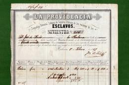 D-ES La Providencia 1857 Siniestro ESCLAVO Sinistre ESCLAVE Claim SLAVE Sinistro SCHIAVO - Documents Historiques
