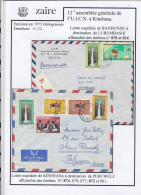CONGO KINSHASA ZAIRE 1975 ISSUE FALLS  COVERS FROM BANDUNDU  AND KINSHASA - Zaïre
