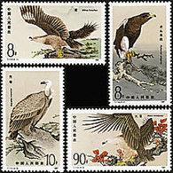 China 1987 T114 Birds Of Prey Stamps Fauna Eagle Kite Bird WWF - W.W.F.