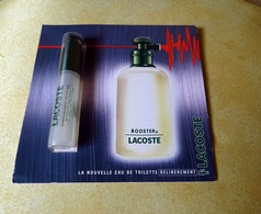 Miniature échantillon Sur Carte BOOSTER  De LACOSTE 1,2 Ml - Miniatures Men's Fragrances (in Box)