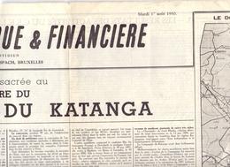 Krant Gazette Journal - Agence Economique - 50° Anniversaire Katanga - 1950 - Vieux Papiers